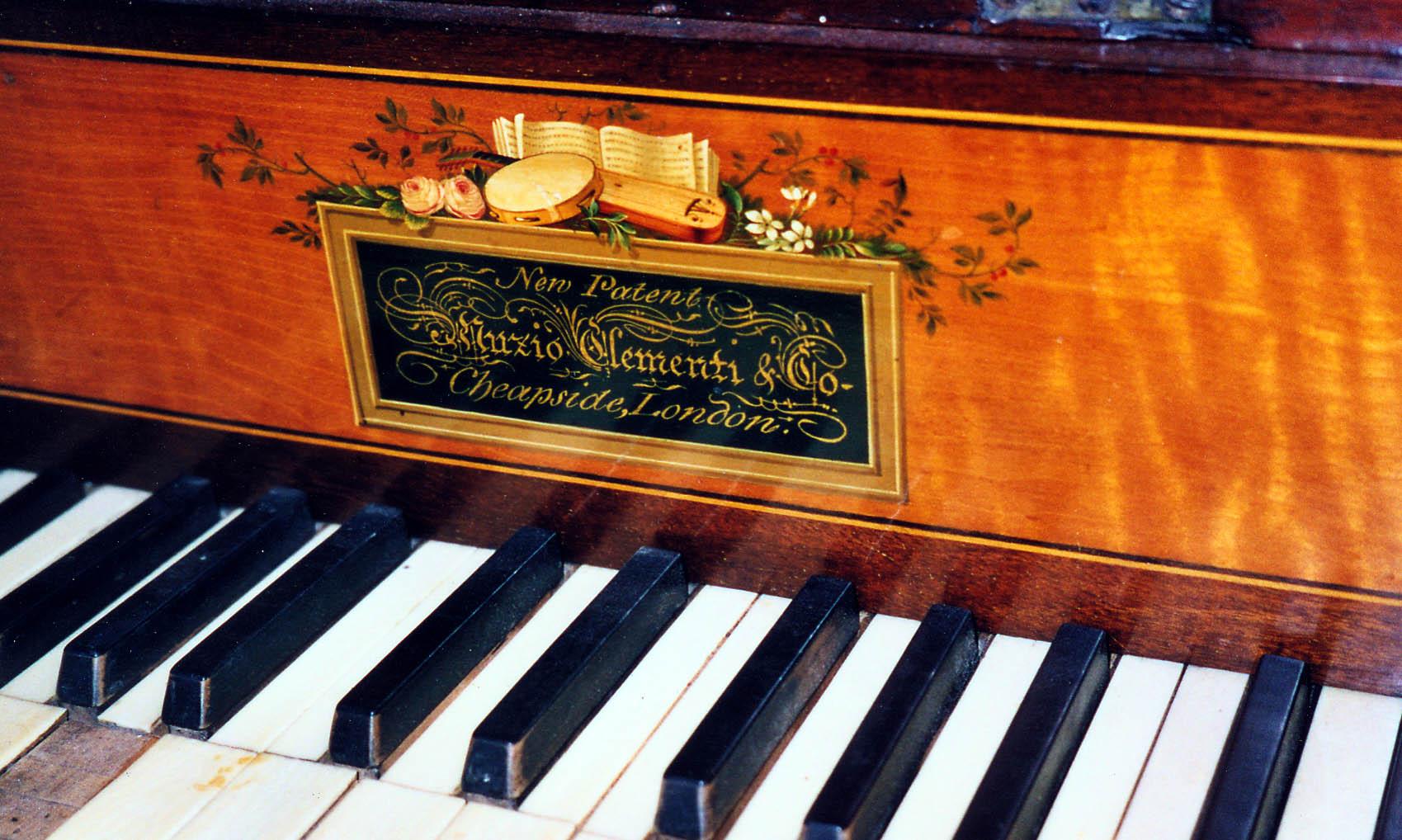 Hackett Label Of A Clementi Pianoforte C 1812